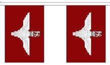 PARACHUTE REGIMENT BUNTING - 3 METRES 10 FLAGS